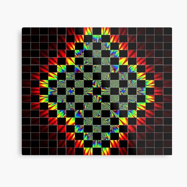 #Design, #pattern, #abstract, #art, illustration, shape, decoration, mosaic, square, futuristic, tile, modern Metal Print
