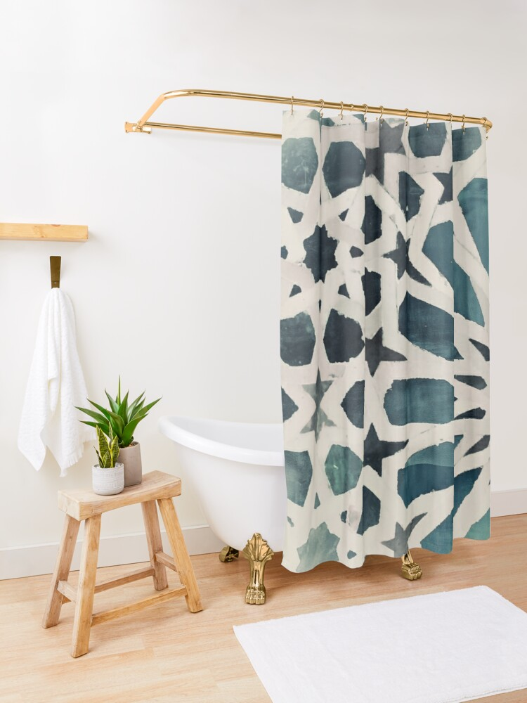 Alternate view of Bluhambra Shower Curtain