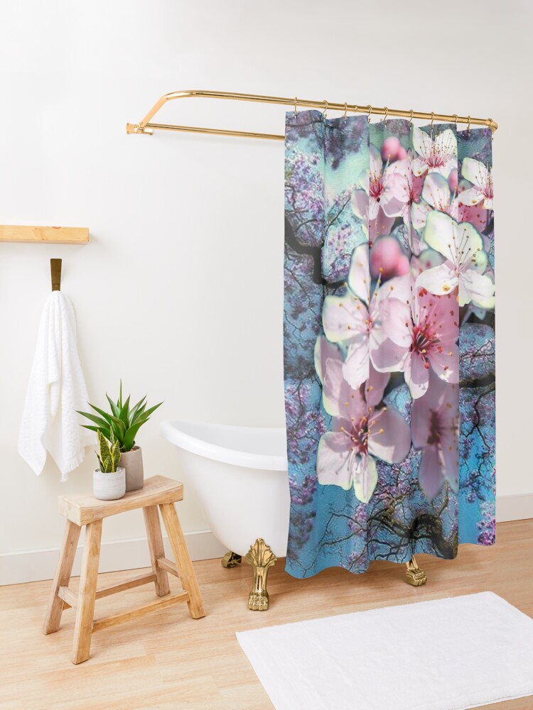 Alternate view of Cherry Blossoms  Shower Curtain