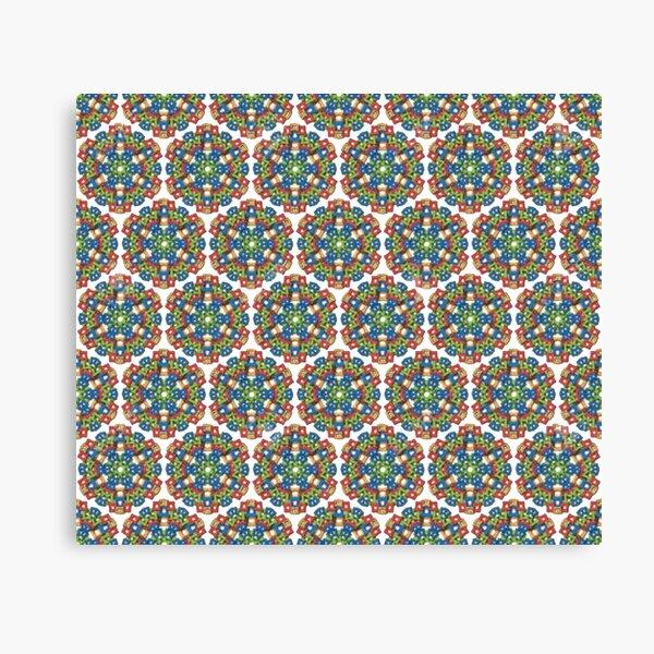 #Design, #pattern, #abstract, #art, illustration, shape, decoration, mosaic, square, futuristic, tile, modern Canvas Print
