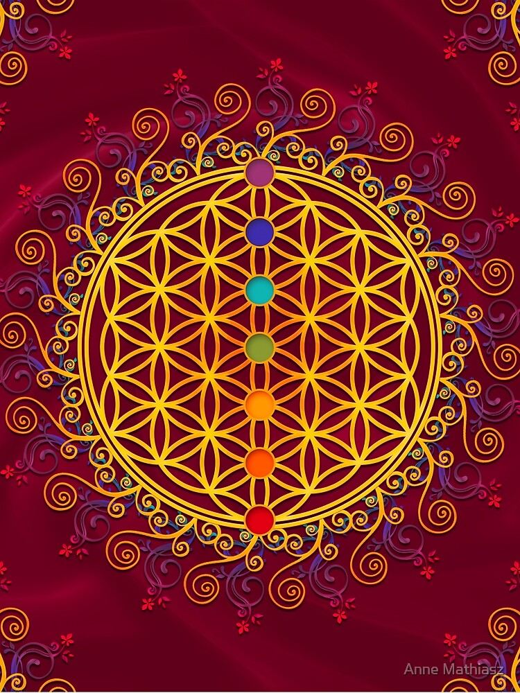 FLOWER OF LIFE, CHAKRAS, SPIRITUALITY, YOGA, ZEN,  by nitty-gritty