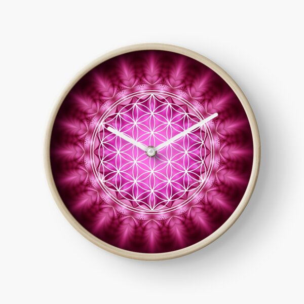 FLOWER OF LIFE - SACRED GEOMETRY - HARMONY AND BALANCE Clock