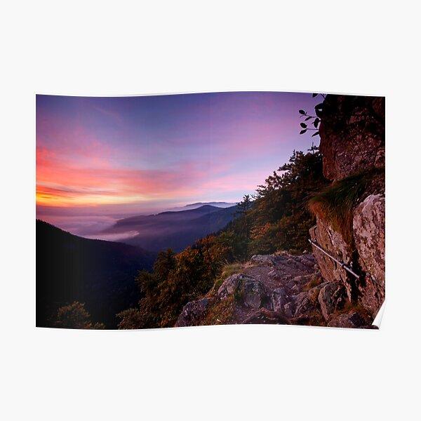 Rock Trail at dawn Poster