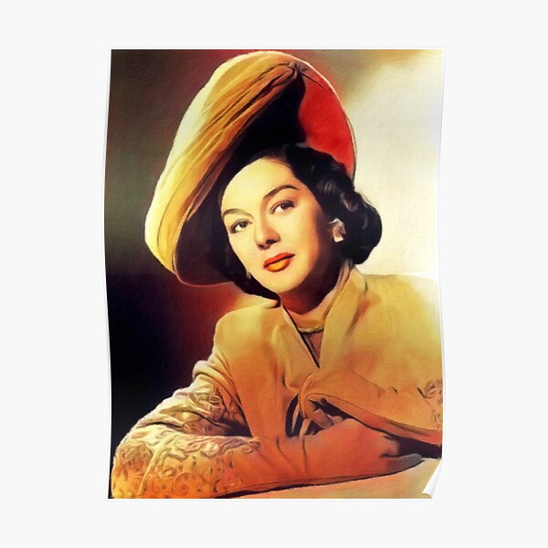 Rosalind Russell, Vintage Actress Poster