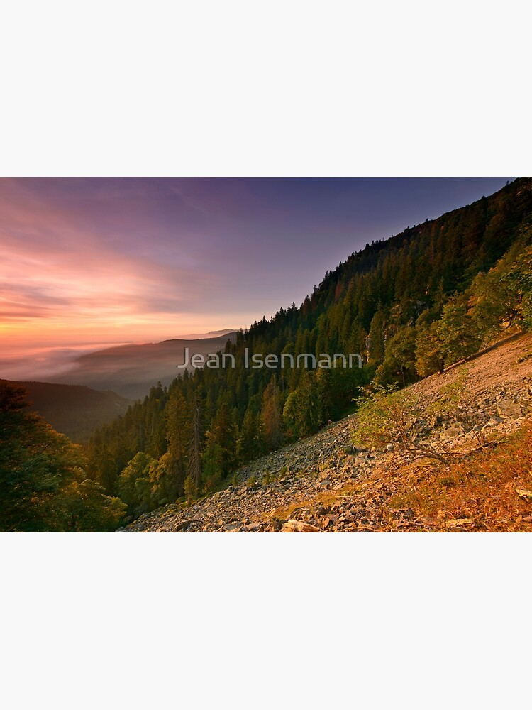 «Depuis le sentier des roches» par Isenmann