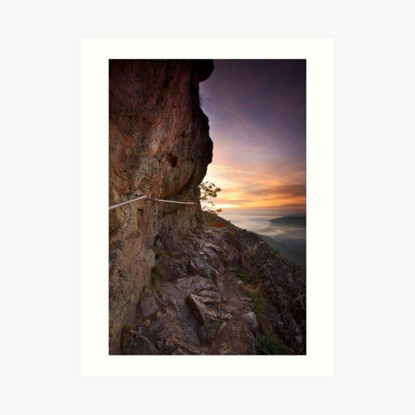 Sentier des Roches à l'aube Impression artistique