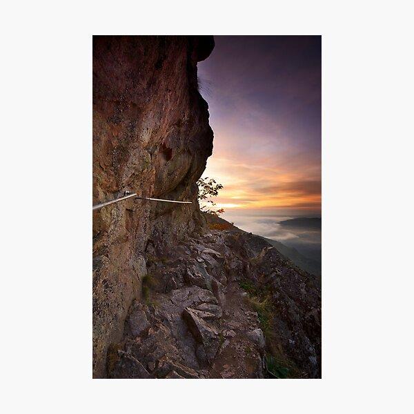 Rock Trail at dawn Photographic Print