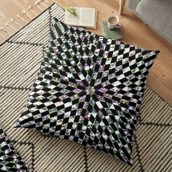 #Design, #pattern, #abstract, #art, illustration, shape, decoration, mosaic, square, futuristic, tile, modern Floor Pillow