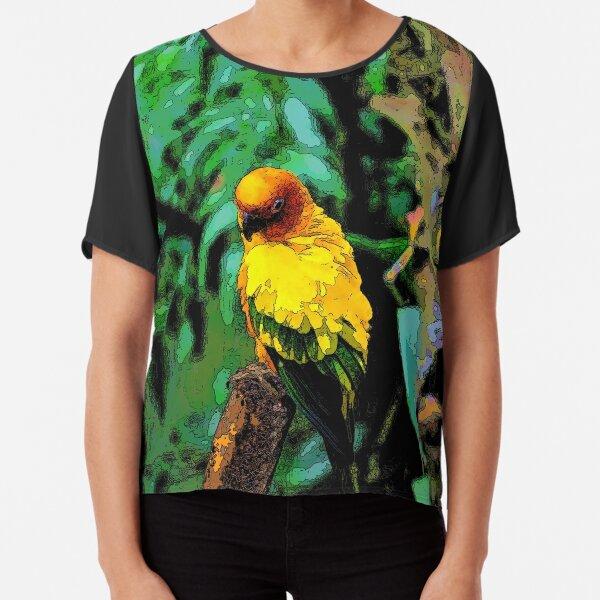 Sun Parakeet Chiffon Top