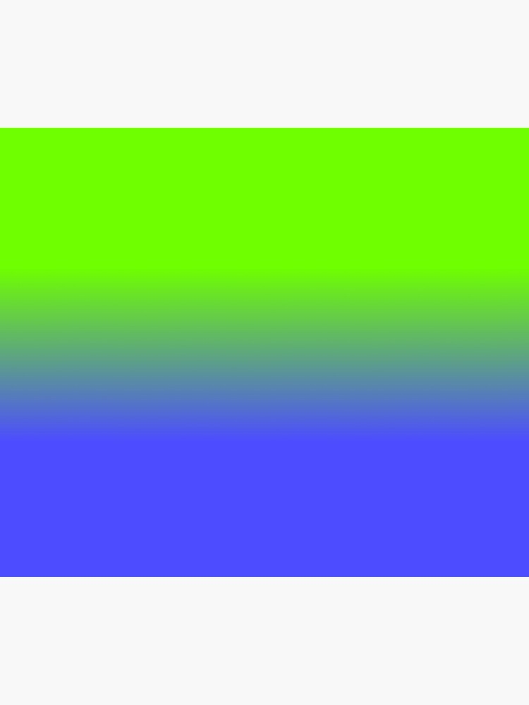 Neon Blue and Neon Green Ombré  Shade Color Fade by podartist