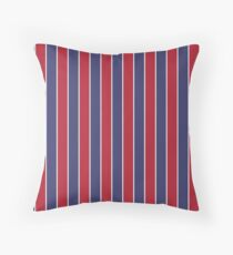 Red White and Blue USA Memorial Day Holiday Sailor Stripe Throw Pillow