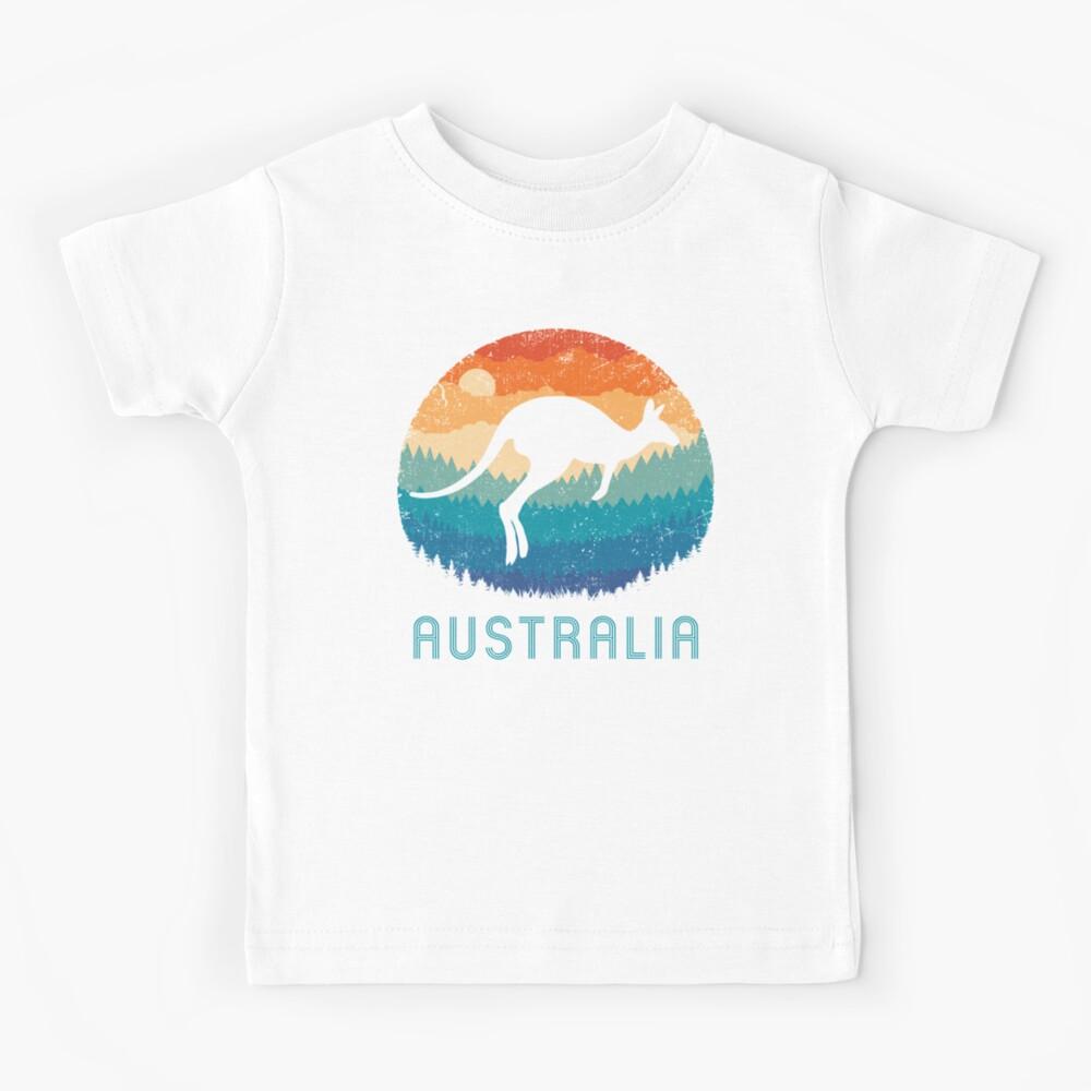 T S Australie Scippis Outback Kangourou Bouclier T Shirt