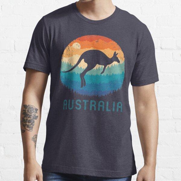 Australia Kangaroo Retro Essential T-Shirt
