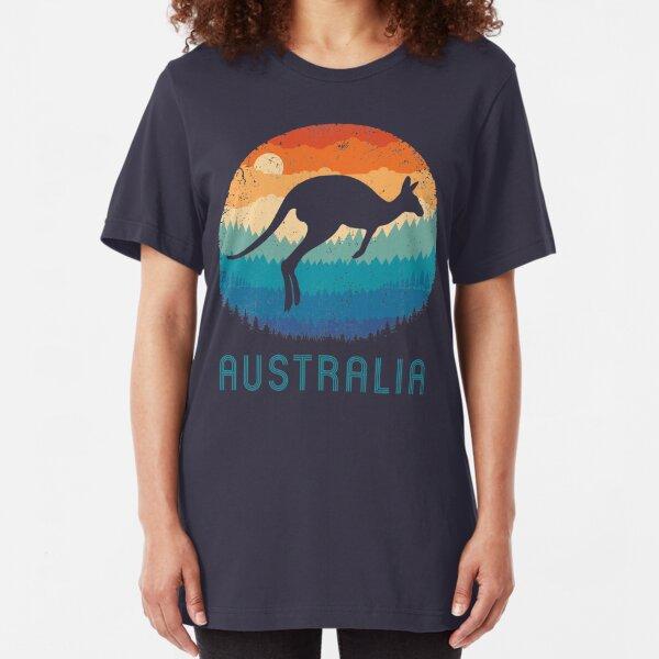 Australia Kangaroo Retro Slim Fit T-Shirt