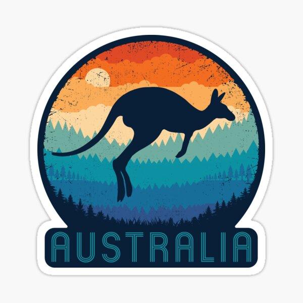 Australia Kangaroo Retro Sticker