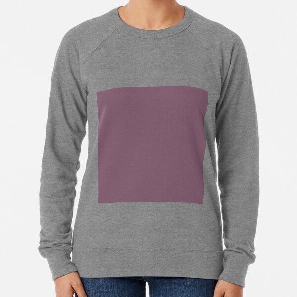 Grapeade Purple Solid Color Trend Autumn Winter 2019 2020 Lightweight Sweatshirt