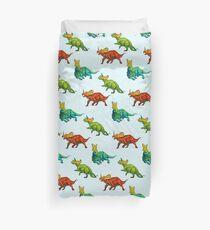 dinos all over - ceratopsians Duvet Cover