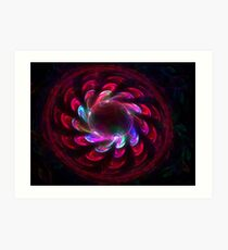 Surrounded in Red Art Print