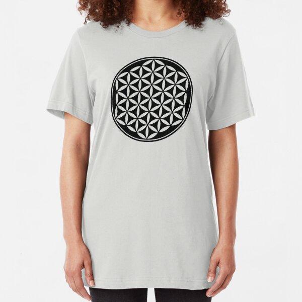 Blume des Lebens - Heilige Geometrie - Harmonie und Balance Slim Fit T-Shirt