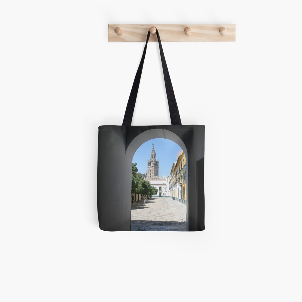#Giralda, #Catedral de #Sevilla, #Spain, La Giralda, Tower: Tote Bag