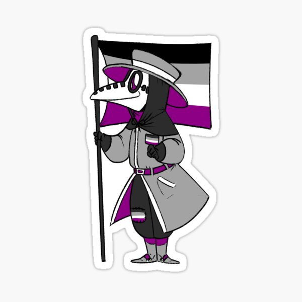 Asexual Pride Plague Doctor Sticker