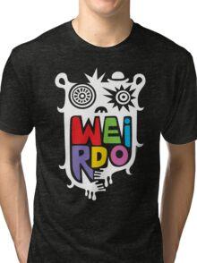 Big Weirdo - on black Tri-blend T-Shirt
