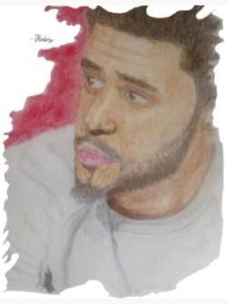 Artpiece of J Cole by DanielBabalola