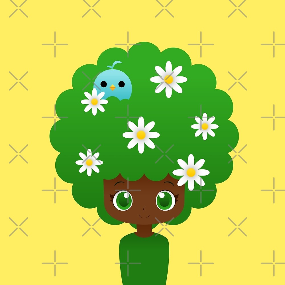 Blooming afro girl by kittybox