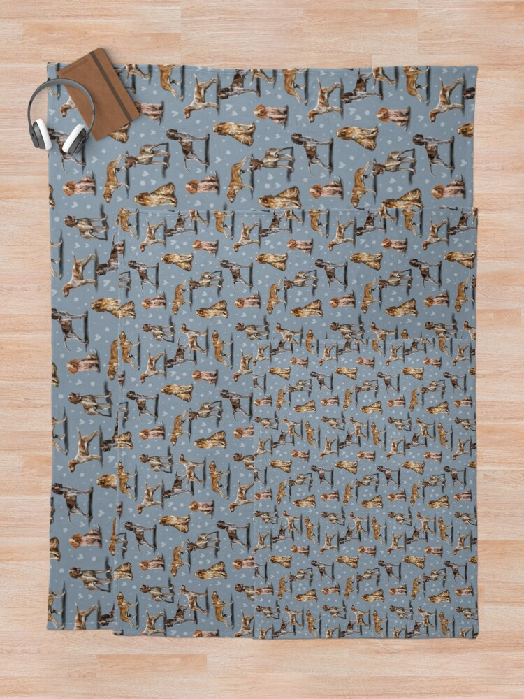 Alternate view of The Bracco Italiano Throw Blanket