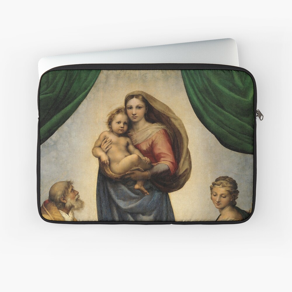 The Sistine Madonna Oil Painting by Raphael Laptop Sleeve