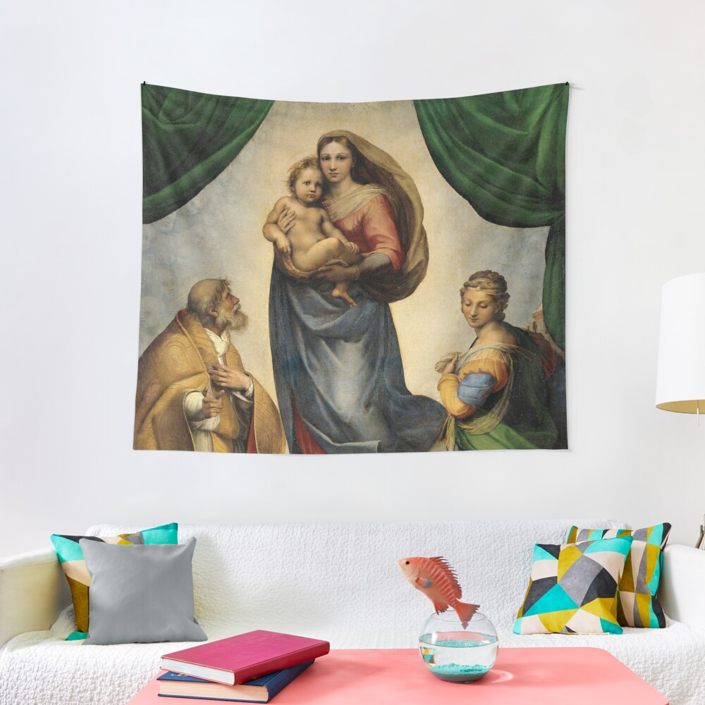 The Sistine Madonna Oil Painting by Raphael Tapestry