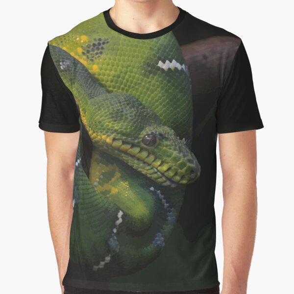 Green snake T-shirt graphique