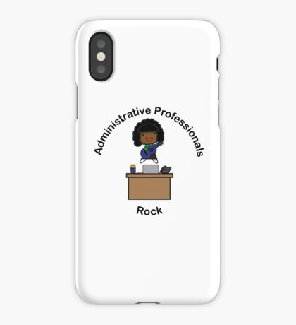 Administrative Professionals Rock (African American) iPhone Case/Skin