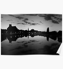 Night falls on Auxerre Poster