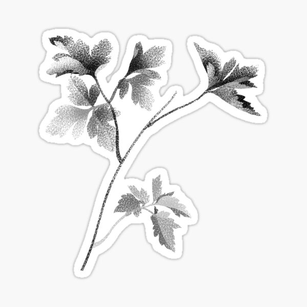 Leafy black Sticker