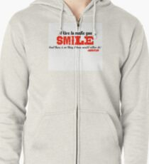 I love to make you smile - Markiplier Zipped Hoodie