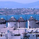 Mykonos windmills by Dale Lockridge