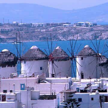 Mykonos windmills by DALock