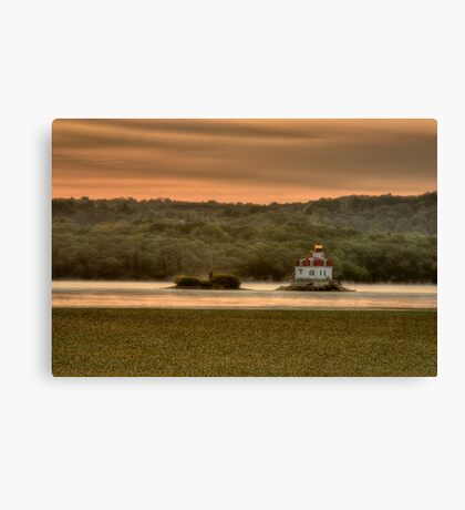 Sunrise over the Esopus Meadows Lighthouse Canvas Print