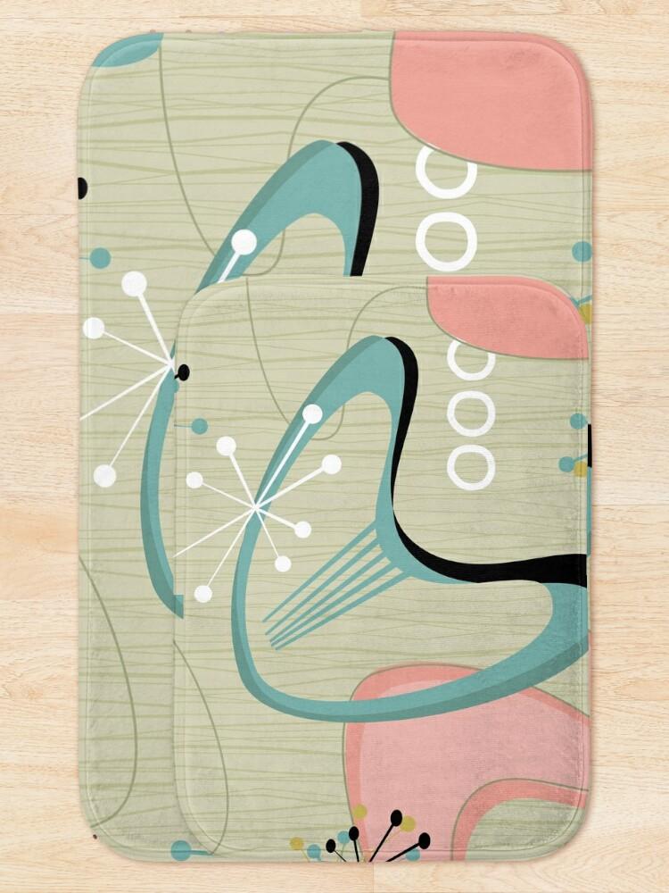 Alternate view of Retro Eames-Era Atomic Inspired 2 Bath Mat