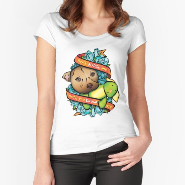 Don't Judge Me... Fitted Scoop T-Shirt
