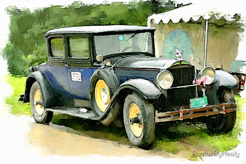 1929 Packard watercolour by Photos by Healy