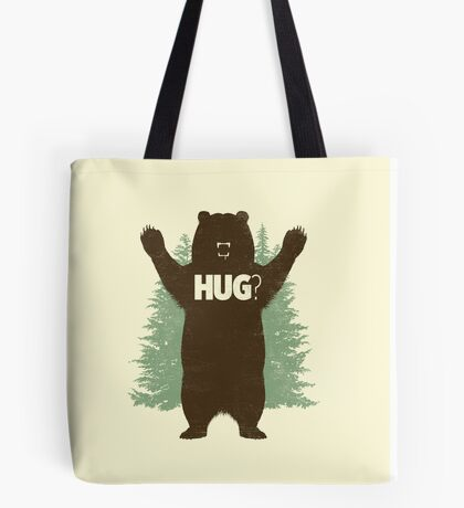 Bear Hug (Light) T-Shirt Tote Bag