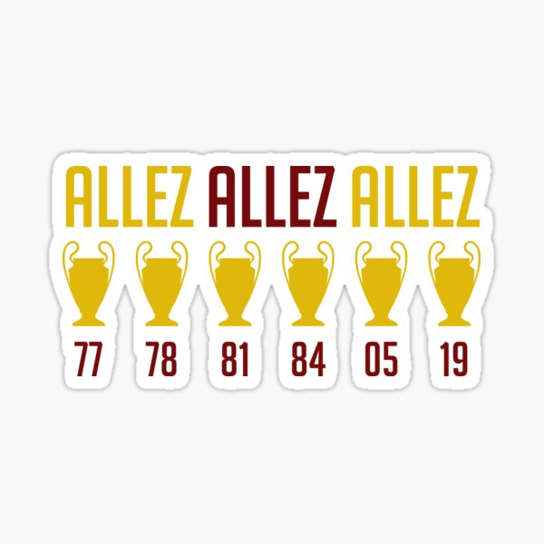 Champions of Europe - Six Times Sticker