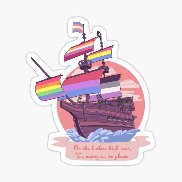 Stolz Piratenschiff Sticker