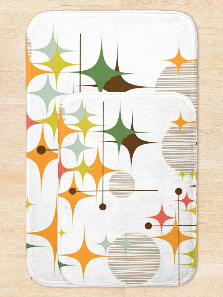 Alternate view of Eames Era Starbursts and Globes 3 Bath Mat