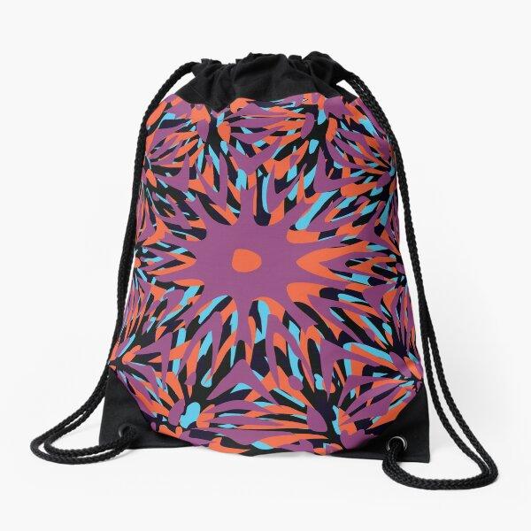 Floral Chaos 15 Drawstring Bag