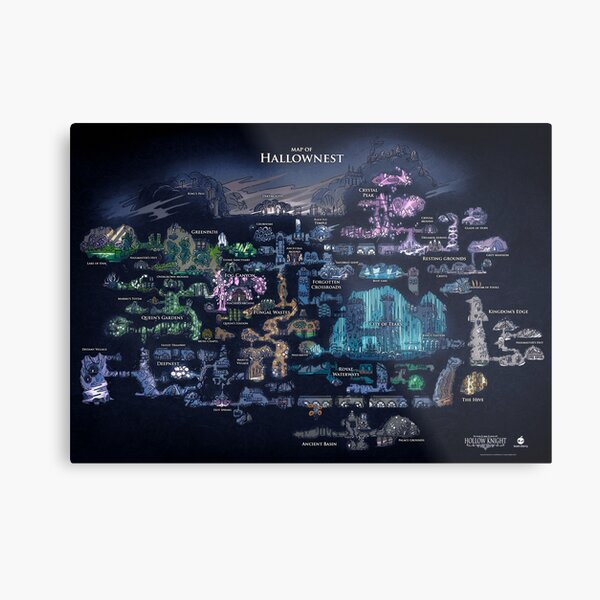 Hollow Knight Map Metal Print