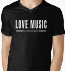 Love Music Loathe Musicals V-Neck T-Shirt