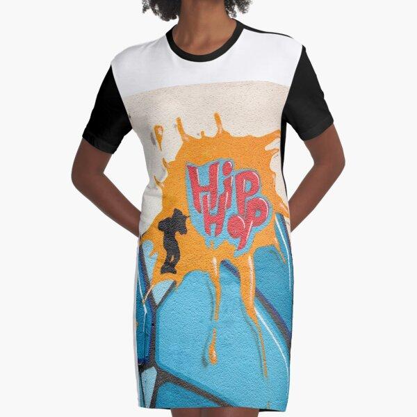 hip-hop Graphic T-Shirt Dress